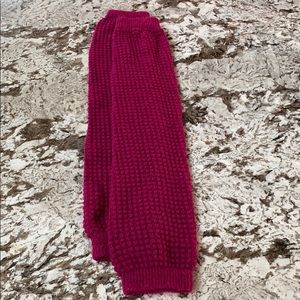 Accessories - Raspberry-coloured legwarmmers. Great condition.